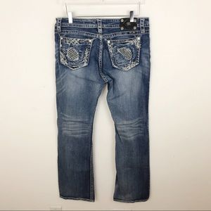 Miss me Blue Denim Jeans Bootcut Rhinestone Bling